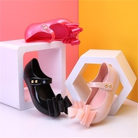 Hot 2017 Summer Mini Melissa Fashion 3 Layers Bows Jelly Sandals For Girls Baby Beach Shoes
