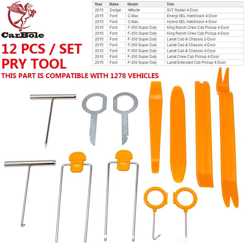 Pack of 12 Opening Pry Tool Repair Kit for Car Auto Radio Stereo Door Clip Panel Trim
