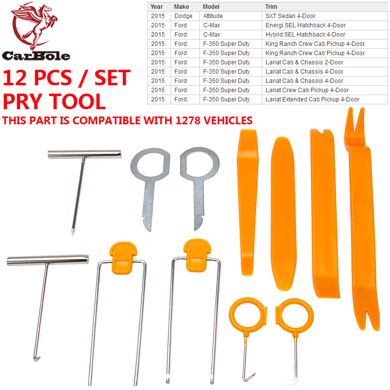 Pack of 12 Opening Pry Tool Repair Kit for Car Auto Radio Stereo Door Clip Panel Trim