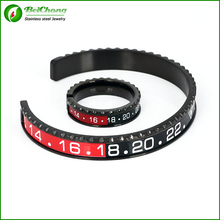 Gratis verzending Heren Sieraden Set Snelheidsmeter Manchet Armband en Snelheidsmeter Manchet Ring