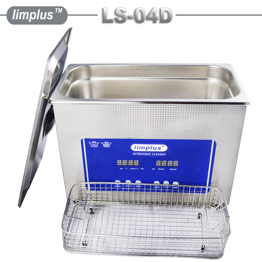 Limplus 4.5L Portable Ultrasonic Cleaner Digital Display With Heater&Timer For Kitchenware Jewelry Watch Bottle Cleaning Tank professional digital ultrasonic jewelry and eyeglass cleaner with digital timer 35w mini ultrasonic cleaner bath