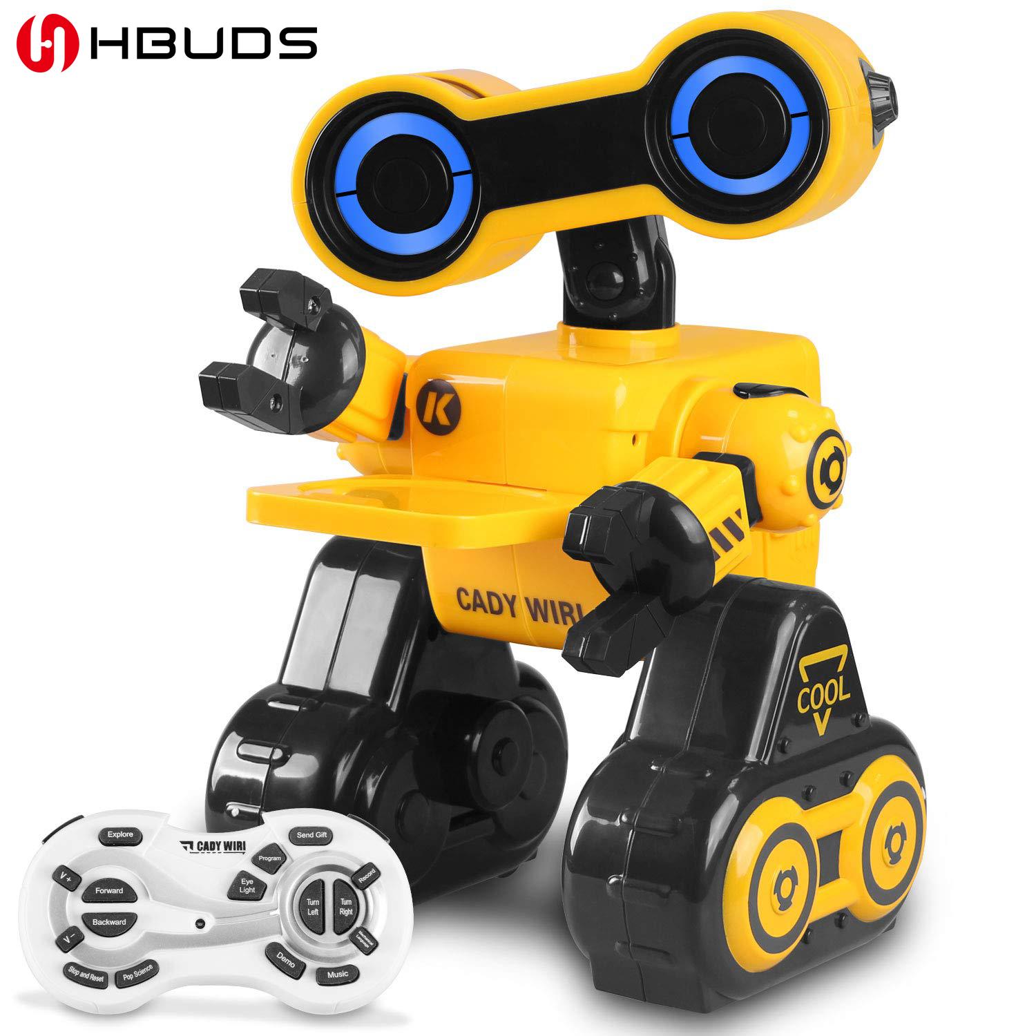 Robot Toy Remote Voice Control Programmable Touch Sensing STEM Educational Robot Toy with Interactive Feature to