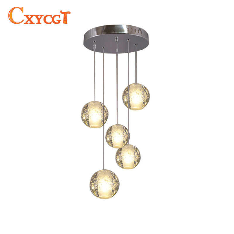 Modern Magic Ball Led Crystal Bubble Glass Pendant Light For Dining Room Globe Hotel Project Lamp Meteor Shower Lights Fixtures magic ball 8 доставка снг