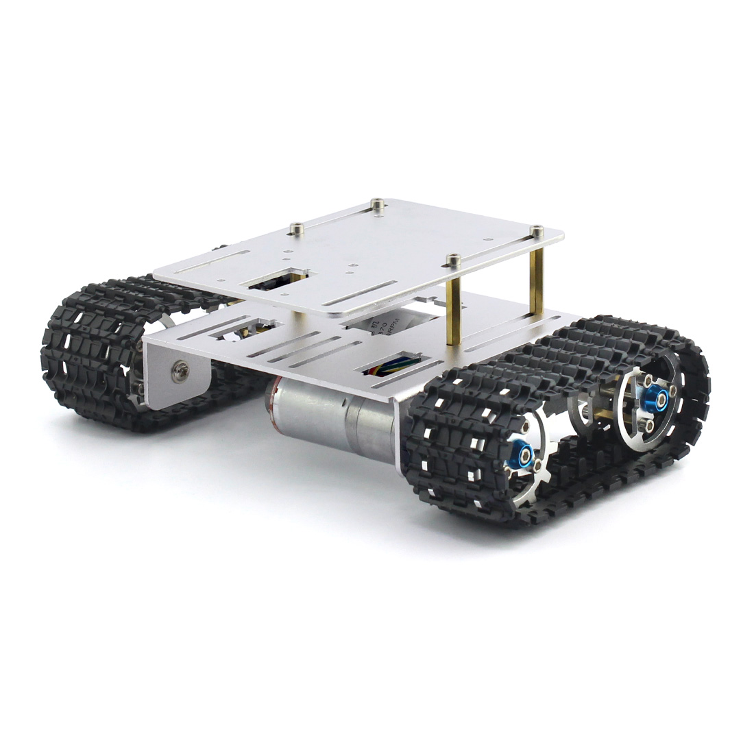 DIY Crawler Robot Chassis Aluminium Alloy Tank Car Chassis Bottom Intelligent Toy For RC Robotic Parts F23428 83mm rubber wheels tire intelligent tracking car chassis diy robot toy car accessories