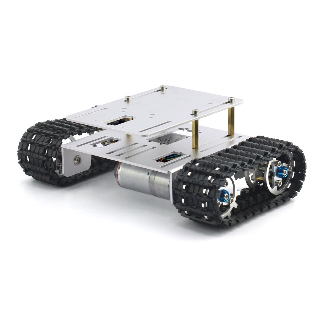 DIY crawler chasis robot aleación de aluminio tanque chasis inferior ...