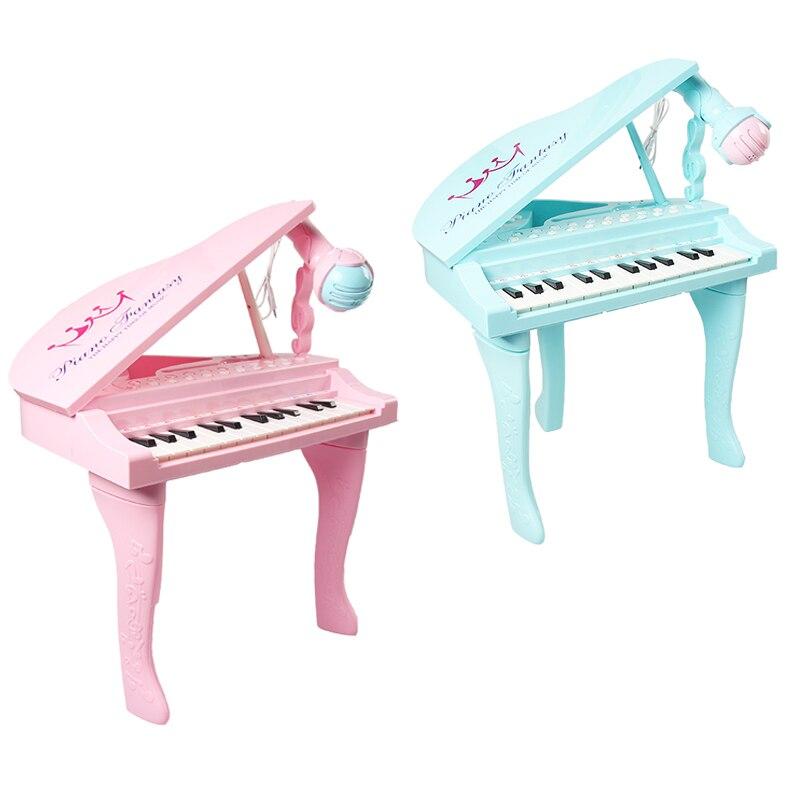 25 touches enfants clavier électronique Electone jouet électronique Piano orgue Instrument de musique Microphone jouet éducatif enfants fille - 3