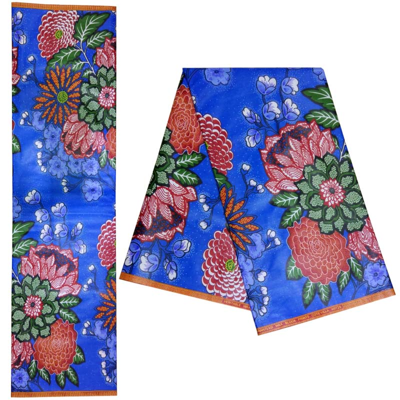 2019 African Wax Fabric Breathable 100 Cotton Guaranteed Dutch Wax For Party Pagne Africain Wax Batik Cloth For Party Dress in Fabric from Home Garden