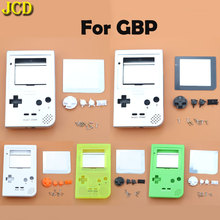 JCD עבור GBP קונסולת מלא פלסטיק פגז דיור כיסוי החלפה עבור Gameboy כיס משחק פגז מקרה עם כפתורי ערכה