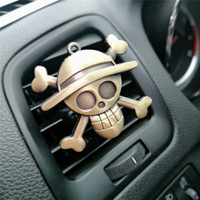 Cartoon Air Freshener Clip Car Styling Perfume For Condition Vent The One Piece Luffy Straw hat pirate sign Fans D3