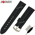 22mm 24mm Black Sport Watchbands Waterproof Diving Silicone Rubber Digital Watch Bands Strap Bracelets Relojes Hombre 2017