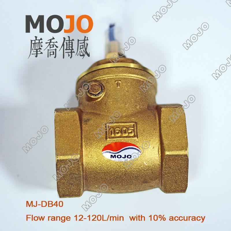 free shipping ! MJ-DB40 G11/2 Paddle type 10% Copper Brass flow switch 84*53*115 цены