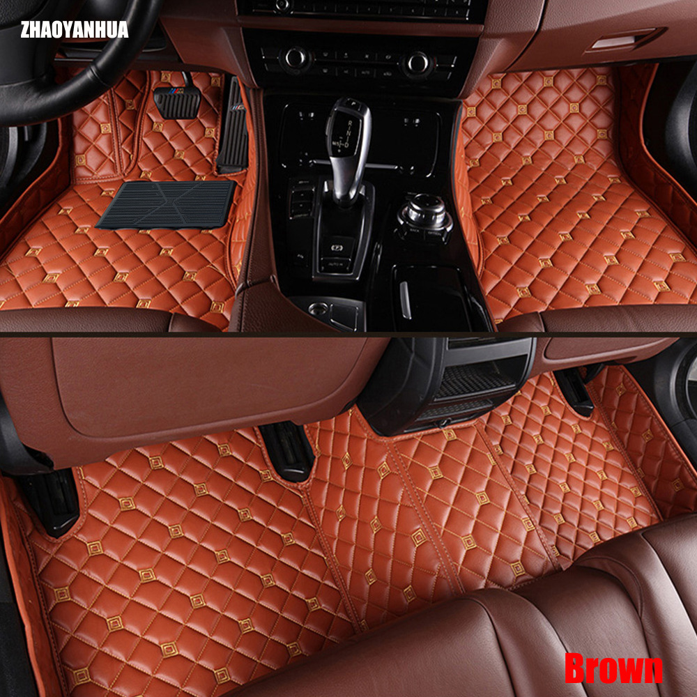 ZHAOYANHUA Car floor mats for Mercedes Benz G350 G500 G55 G63 AMG W164 <font><b>W166</b></font> M <font><b>ML</b></font> GLE X164 X166 GL GLS 320 <font><b>350</b></font> 400 420 450 500 55 image