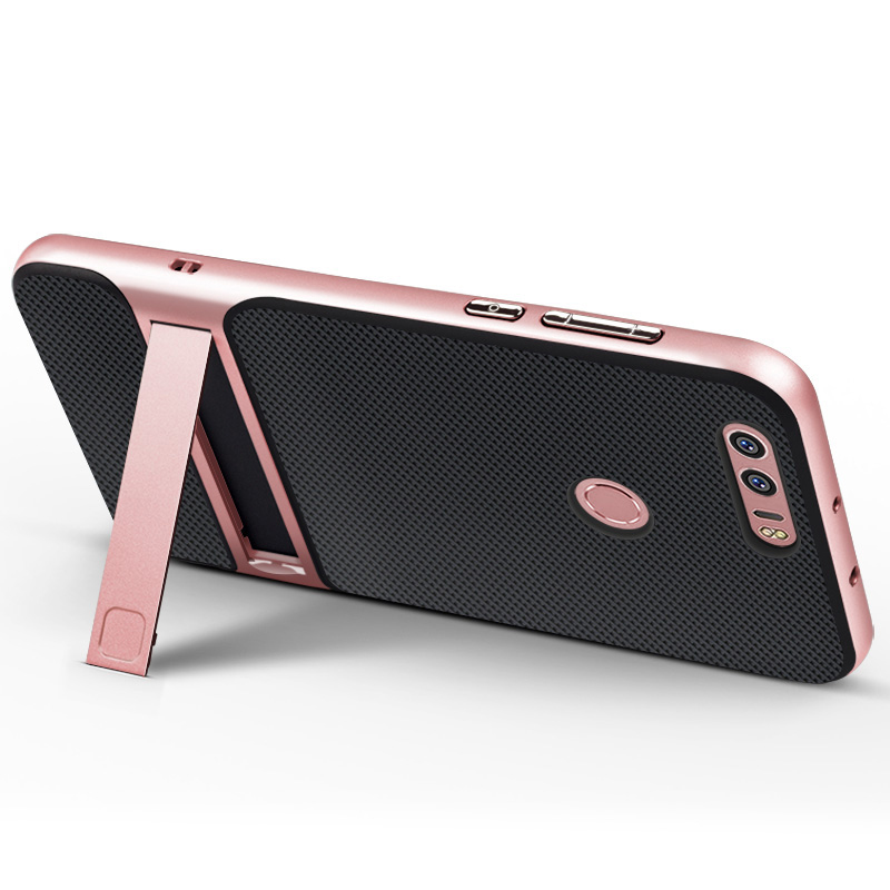 Hot Sale 3D Kickstand Mobile Phone Case Hybrid TPU+PC Hard Case For Huawei honor 8 (5.5 inch) Cover Capa Para Coque