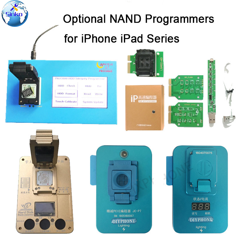 Naviplus Pro3000S JC Pro1000S Phone NAND Programmer HDD Read Write Tool For iPhone X 8 8Plus 7 7P 6 6S 5 All iPadPower Tool Sets   -