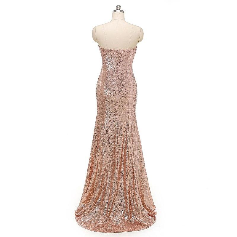 LORIE Images réelles cristaux Sequin robes de bal Mermiad pas cher robe de soirée grande taille robe de soirée pour femme - 2