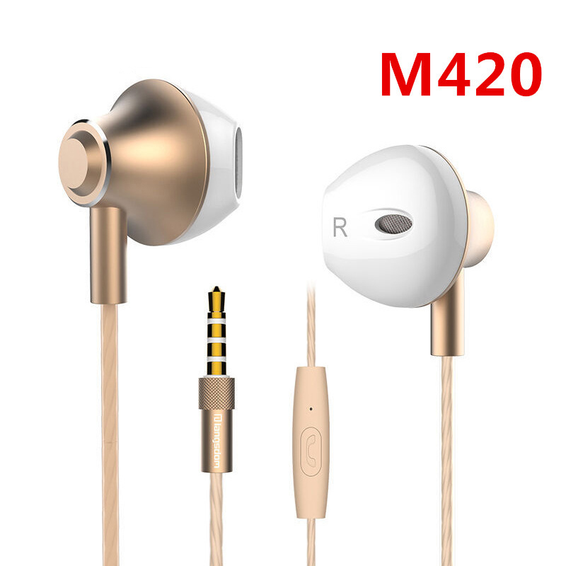 Original F9 3.5mm Ergofit Earphone Metal Bass Earphones with Microphone Stereo Headset Earbuds for Phone Computer Fone De Ouvido rock y10 stereo headphone earphone microphone stereo bass wired headset for music computer game with mic