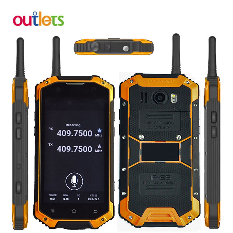 Walkie talkie Smartphone IP68 Waterproof Mobile Phone Android 5 1 4 7 Quad Core 2GB 16GB