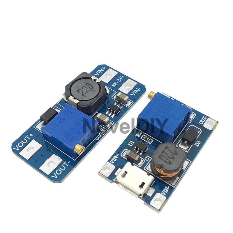 Carte de convertisseur réglable de DC-DC MT3608 Module d'alimentation de propulseur puissance maximale 28V 2A plaque de poussée pour Arduino réglable