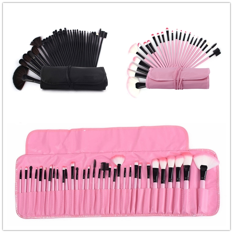Makeup Brush Sets Foundation Eyebrow Powder Brush Case pincel maquiagem 32Pcs Make Up Brushes Cosmetic Bag Pink Brushes Kits 12pcs pro makeup brush set eyeshadow eyebrow powder foundation brush make up brushes pincel maquiagem face cosmetic puff