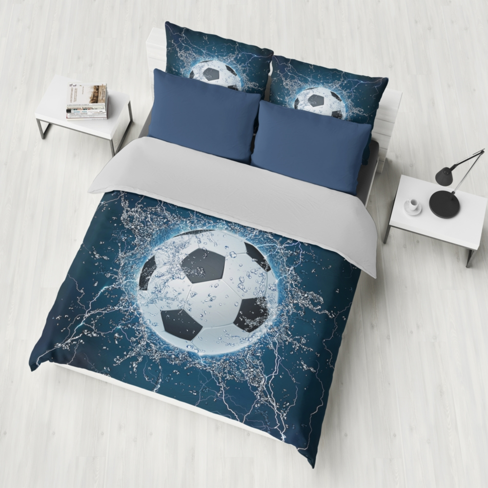 Dropshipping Bedding set 2/3pcs  3D Bedding Sets blue Print ocean fish Shell Duvet cover sets water FootballBoy GiftDropshipping Bedding set 2/3pcs  3D Bedding Sets blue Print ocean fish Shell Duvet cover sets water FootballBoy Gift