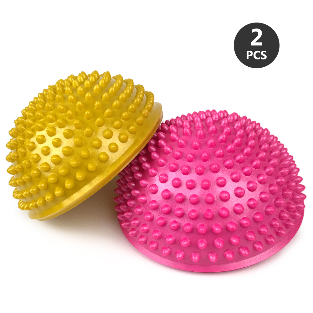 Inflatable Yoga Foot Massage Ball 16CM Massage Balance Pods Body Rolling Foot Wakes Spiky Point Gym Fitness Pilates