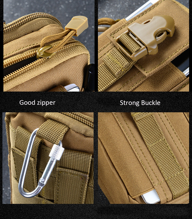 Multifunctional Camping Waist Pack Climbing Emergency Molle Survival Kits Outdoor Tactical Bag Wallet Pouch Outdoor Sport Pack (14)