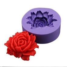 3D цветок цветение розы Форма помадка силиконовая форма для торта, капкейков конфеты Шоколадный Торт Украшение Инструмент выпечки кружева формы