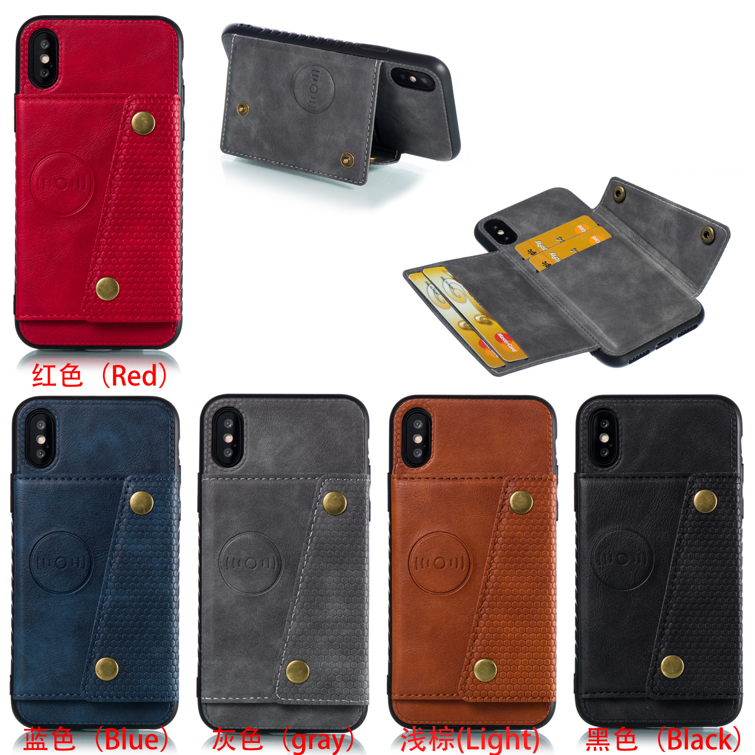Multi Card Holders Wallet Case For iPhone 11 Pro Max Xs Max XR X Magnet Buckle Multi Card Holders Wallet Case For iPhone 11 Pro Max Xs Max XR X Magnet Buckle Cover for iPhone 6 6S 7 8 Plus Case with Bracket