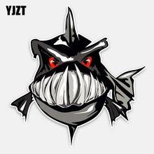Yjzt 13.3 cm * 14 cm personalidade animal piranha estilo do carro decoração adesivo de carro decalque pvc 5-0142