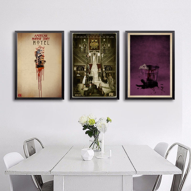 American Horror Story Tv Poster Wall Art Silk Prints