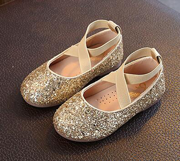 Girls Sequin Shoes Princess Gold Black Pink Kids Spring Shoe Nina Sapatos Glitter Holiday Shoes Wedding Birthday Party Formal