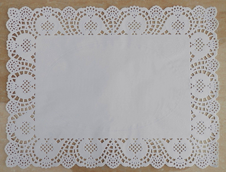 12 15 7 Inch Rectangle White Lace Grease Proof Paper