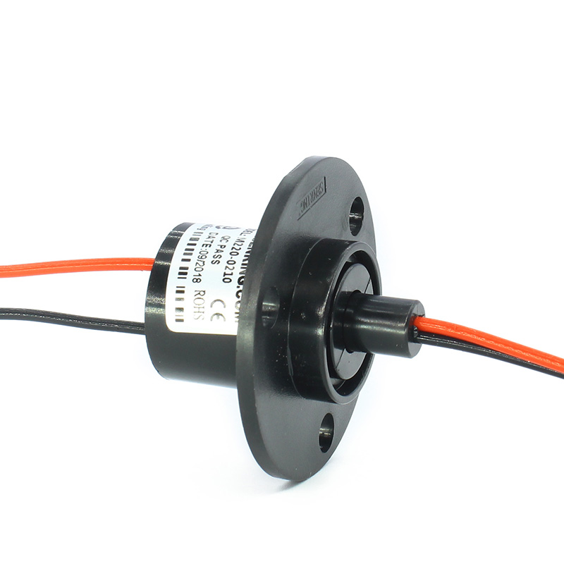 Gold To Gold 2 Wires Slip Ring With OD 22mm 10A Current Of Capsule Sliprings Rotary Joints For Handheld PTZ, Mini Drones