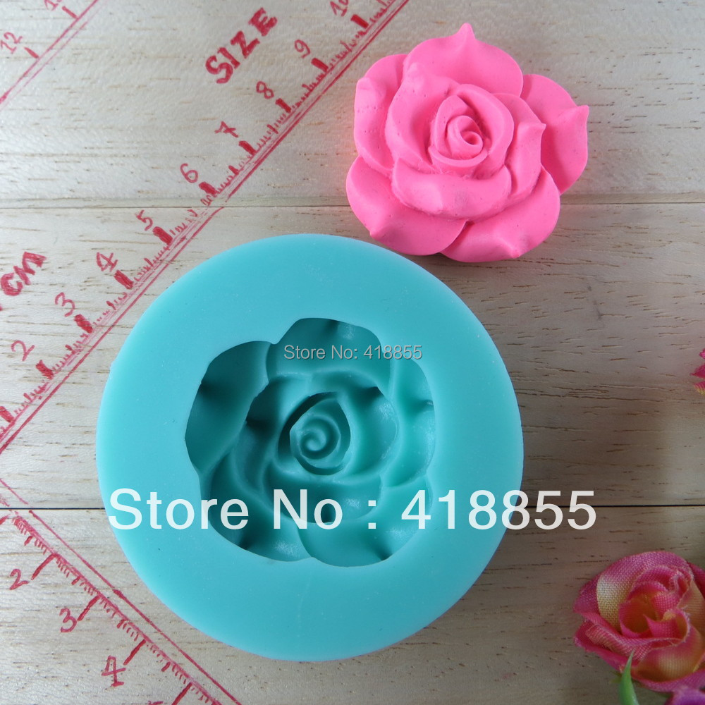 Beautiful rose fondant Mold flower Chocolate Mold & Cookie Silicone Gel Mold & ice mold Bake ware Valentines Day Gift NO.si301