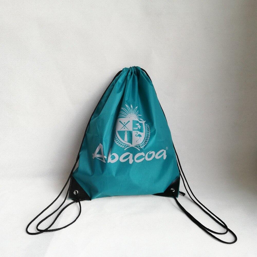 500pcs lot Fashion Reusable Backpack Drawstring Shopping Bags Travel Beach Gym Outdoor School Bags Custom Logo