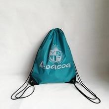 500pcs/lot Fashion Reusable Backpack Drawstring Shopping Bags Travel Beach Gym Outdoor School Bags Custom Logo Strong Bearing