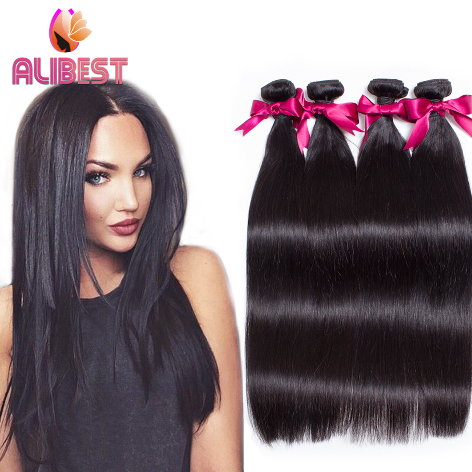 7A Indian Virgin Hair Straight Hair 4 Bundles Human Hair -1053