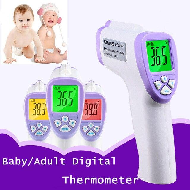 New Muti-fuction Baby Digital Temperature Infrared Forehead  Temperature for Body Gun Non-contact Temperature Measurement Device
