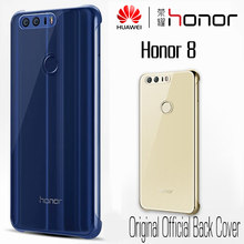 HUAWEI Honor 8 Case Official Original Soft Silicone Transparent Back Cover 5.2 Inch Clear Fundas Ultra Thin Coque Honor 8 Cover(China)