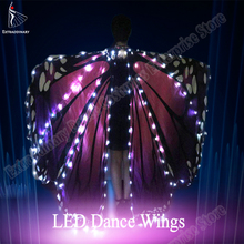 New Women Belly Dance LED Wings Girls Wing Butterfly Halloween Cloak  Accessories Props Stage