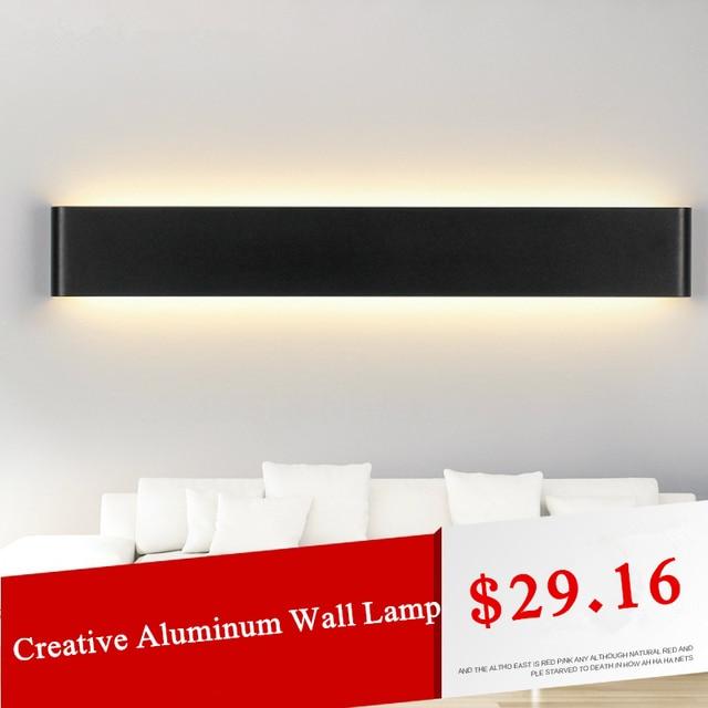 High Quality Modern Wall Lamp Black/White Aluminum Body LED Wall Light Home Lighting Stairs Applique Murale Luminaire Wandlamp