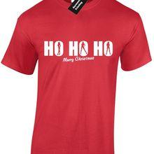 6779712e HO HO HO MENS T SHIRT TEE FUNNY CHRISTMAS RUDE DESIGN XMAS MERRY FESTIVE  Gift Print