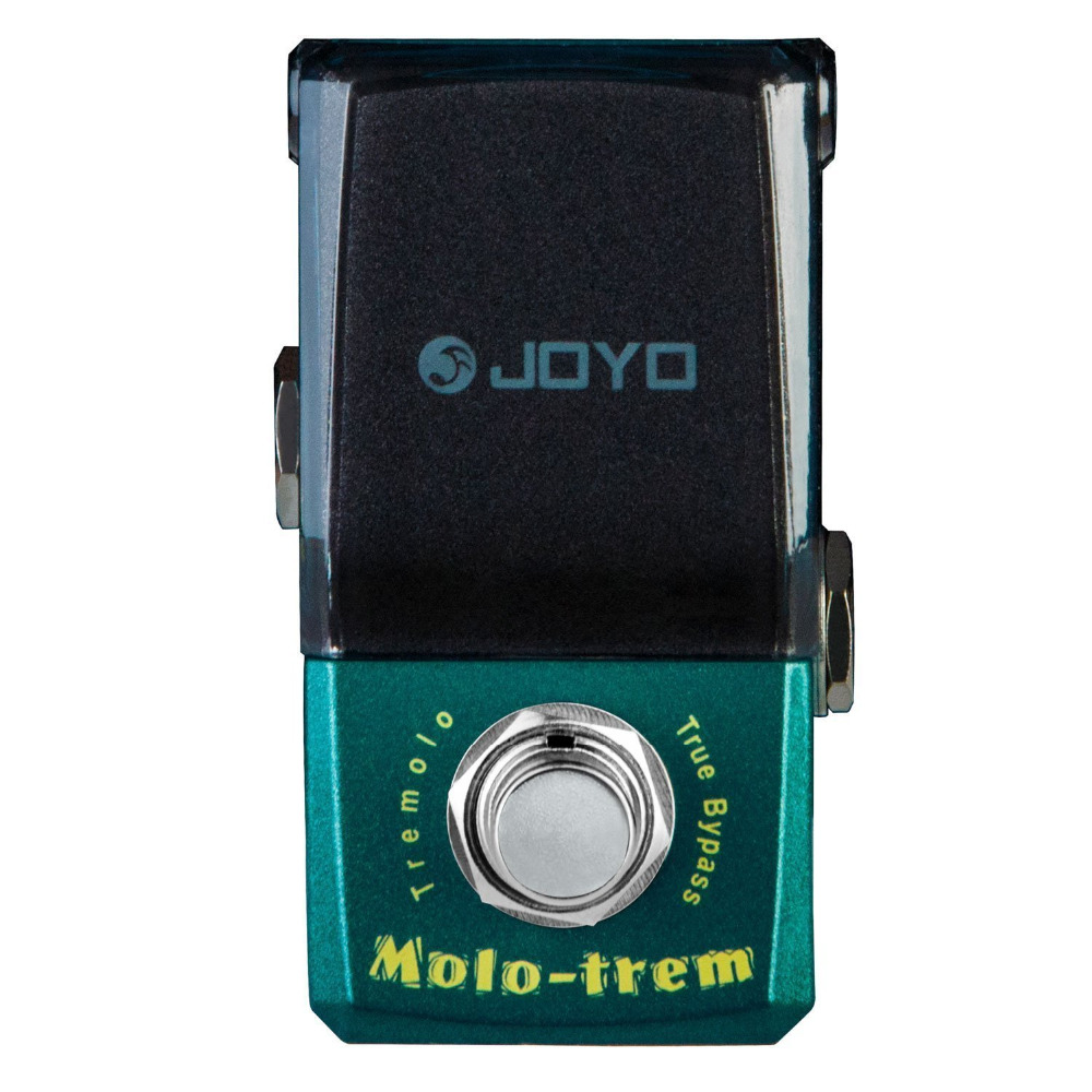 JOYO JF-325 Molo-Trem Tremolo Mini Electric Guitar Effect Pedal with Knob Guard True Bypass joyo ironman orange juice amp simulator electric guitar effect pedal true bypass jf 310 with free 3m cable