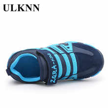ULKNN Genuine Leather Boys Sneakers For Girls Shoes Kids Trainers Student Running School Children Shoes Sneakers kinderschoenen