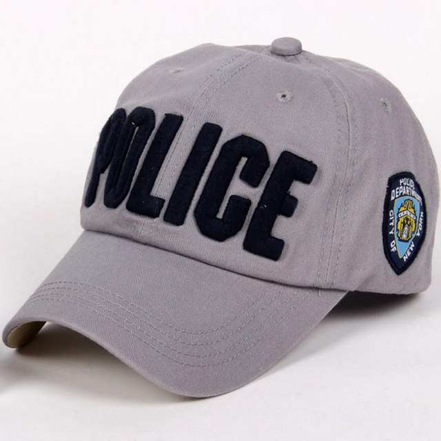 ae8cd6760a1 3D Embroidery Text Police Baseball Cap Men Women s Cotton Snapback Dad Hat  Black Blue Gray Rose Pink