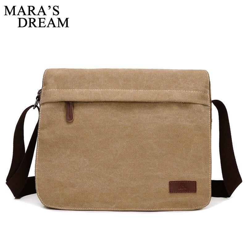 Mara's Dream 2018 New Canvas Bag Men Casual Travel Crossbody Bag Solid Big Capacity Male Men's Shoulder Bag Messenger Handle Bag