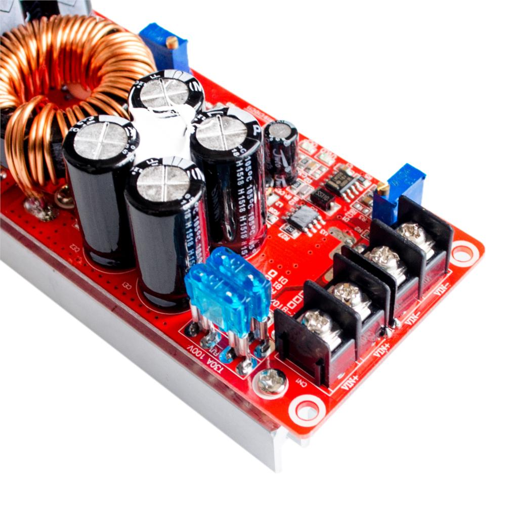 Image 3 - 5PCS/LOT 1200W 20A DC Converter Boost Step up Power Supply Module IN 8 60V OUT 12 83V-in Integrated Circuits from Electronic Components & Supplies