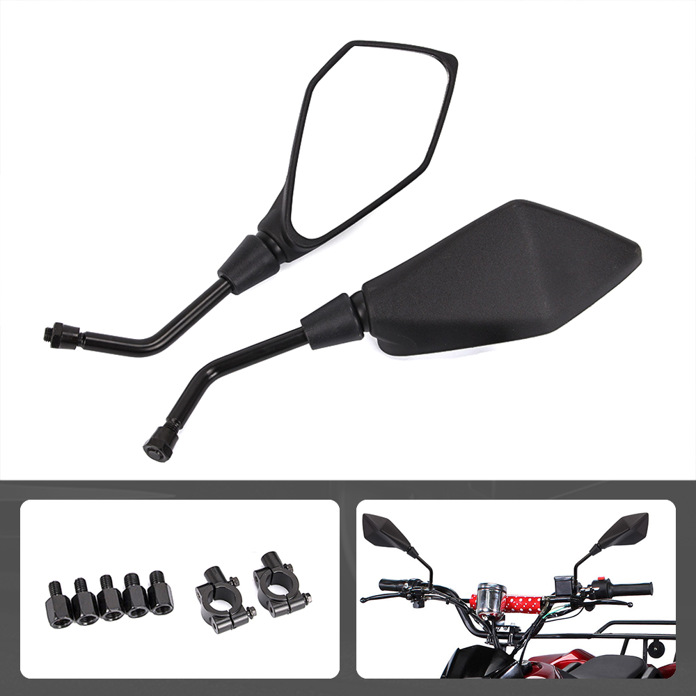 Pair ATV Rear View Side Mirror Motorcycle Rearview Mirror With 8mm 10mm Clockwise For Yamaha Honda Polaris Sportsman Can Am
