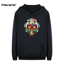 Flevans The Legend of Zelda Majora's Mask Hoodies Men Brand Designer Sweatshirt Pullover Hoodies Hip Hop Streetwear Clothing