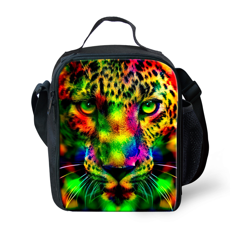 Personalized Camouflage 3D Animal Leopard Printing Lunch Bag for Kids insulated Adult Lunch Pack Lancheira Termica Picnic Bag